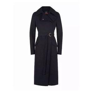 NWT $695 Victorinox Ines charcoal wool coat L